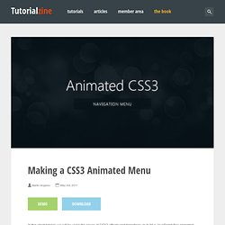 Making a CSS3 Animated Menu