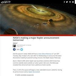 NASA's making a major Kepler announcement tomorrow!