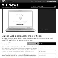 Making Web applications more efficient