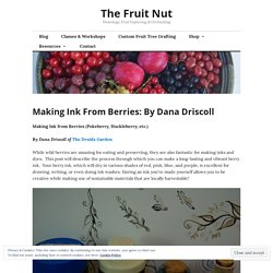 Making Ink From Berries: By Dana Driscoll – The Fruit Nut