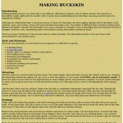 Making Buckskin