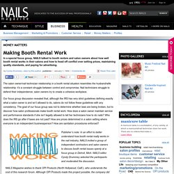 Making Booth Rental Work - Business - NAILS Magazine