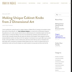 Making Unique Cabinet Knobs from 2 Dimensional Art — Martin Pierce