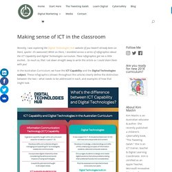 Making Sense of ICT Capability in the Classroom