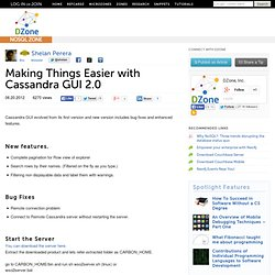 Making Things Easier with Cassandra GUI 2.0