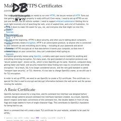 Making HTTPS Certificates
