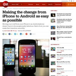 Making the change from iPhone to Android as easy as possible
