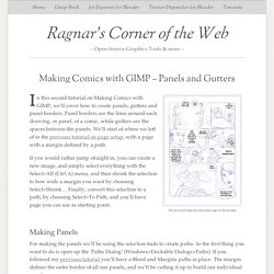 Making Comics with GIMP – Panels and Gutters