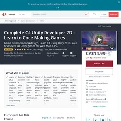 Learn to Code by Making Games - Complete C# Unity Developer