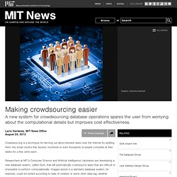 Making crowdsourcing easier