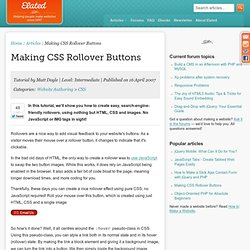 Making CSS Rollover Buttons
