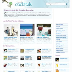 Making and Drinking Cocktails at Great Cocktails (UK)