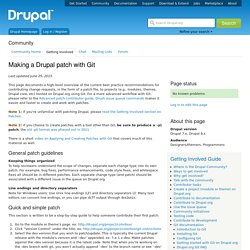 Making a Drupal patch with Git