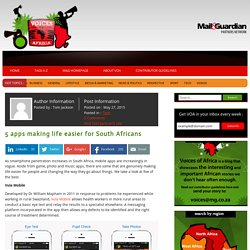5 apps making life easier for South Africans