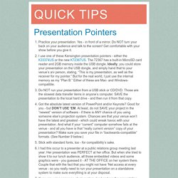 Tips for Making Effective Presentations.