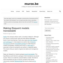 Making Eloquent models translatable - murze.be