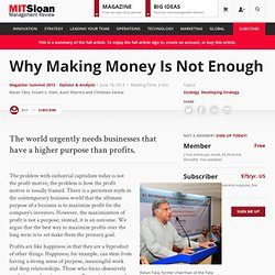 Why Making Money Is Not Enough