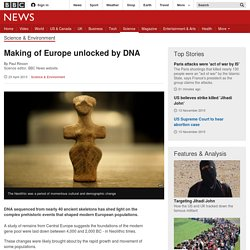 Making of Europe unlocked by DNA
