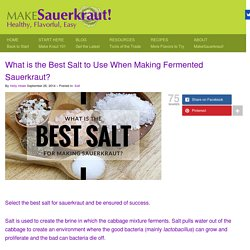 What is the Best Salt to Use When Making Fermented Sauerkraut?