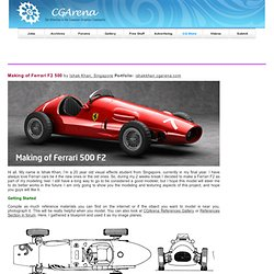 Making of Ferrari F2 500