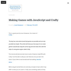 Making Games with JavaScript and Crafty