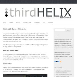 » Making 2D Games With Unity Third Helix