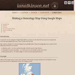 Making a Genealogy Map Using the Google Maps API
