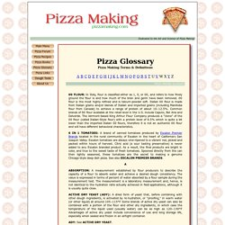Pizza Making Glossary - PizzaMaking.com