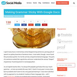 Making Grammar Sticky With Google Docs