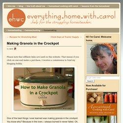 Making Granola in the Crockpot