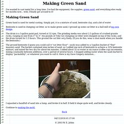 Making Green Sand