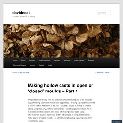 Making hollow casts in open or 'closed' moulds – Part 1