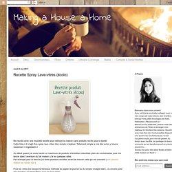 Making a House a Home: Recette Spray Lave-vitres (écolo)