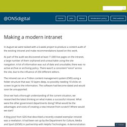 Making a modern intranet – @ONSdigital