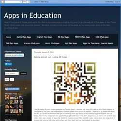 Making and not just reading QR Codes