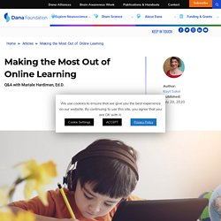 Making the Most Out of Online Learning