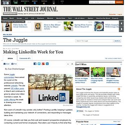 Making LinkedIn Work for You - The Juggle
