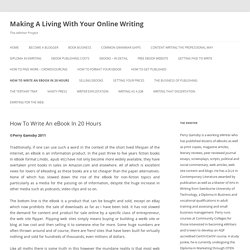 Making A Living With Your Online Writing