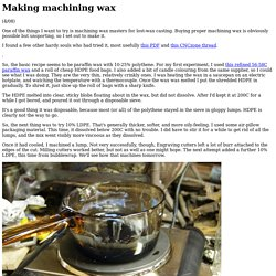 Making machining wax