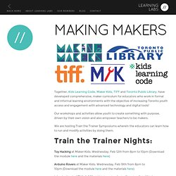 Making Makers | Learning Labs