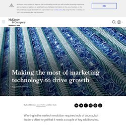 Making the most of marketing technology to drive growth