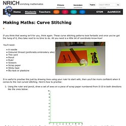 Making Maths: Curve Stitching