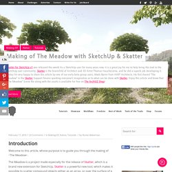 Making of The Meadow with SketchUp & Skatter