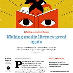 Making media literacy great again