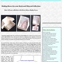Making Boxes for your Rock and Mineral Collection