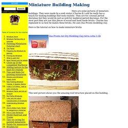 Making Miniature Buildings