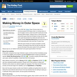 Making Money in Outer Space (AMZN, BA, GOOGL, RTN)