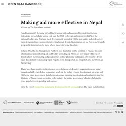 Making aid more effective in Nepal