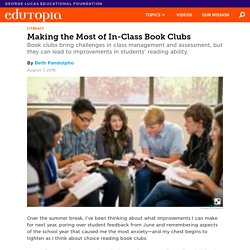 Making the Most of In-Class Book Clubs