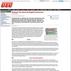 Making The Most Of Digital Performer